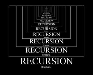 rekursja-300x240 Rekurencja w programowaniu. Jak działa rekurencja - wyjaśnienie.