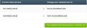 cloudflare-zmiana-dns-300x98 Jak przyśpieszyć stronę internetową ? Szybsze ładowanie strony internetowej dzięki Cloudflare !