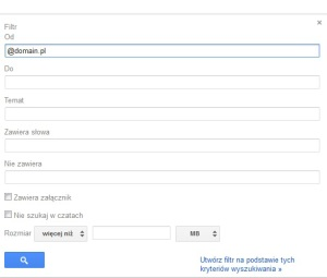 filtr-gmail-300x255 Jak zablokować domenę pocztową na Gmail ? Blokowanie wiadomości email ze wskazanej domeny w Gmailu !