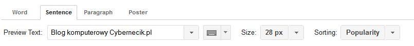 google-fonts-wlasne-czcionki Darmowe czcionki na stronę internetową. Bezpłatne fonty od Google.