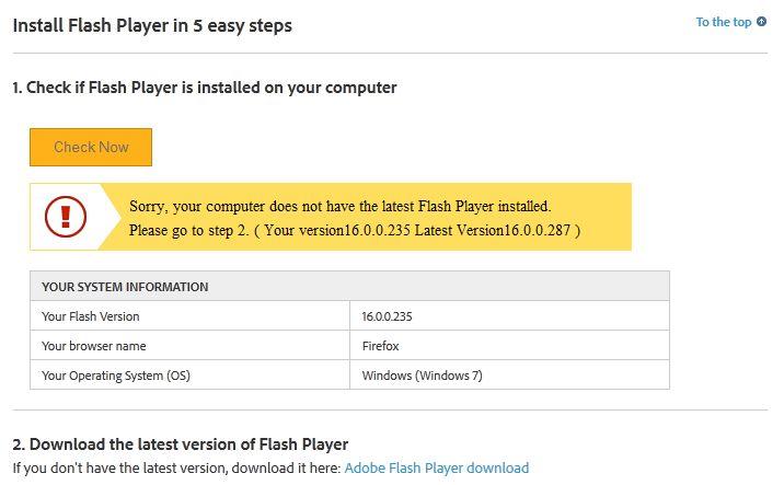 Wersja-adobe-flash-player Naprawiamy wtyczkę Flash Player. Kompletna reinstalacja Adobe Flash Player.