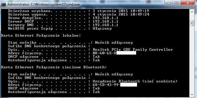 adres-mac-karty-sieciowej Podział łącza internetowego, czyli jak zapewnić minimalną prędkość pobierania.