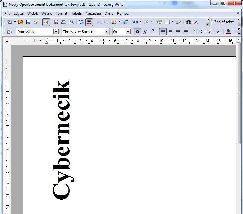drukowanie-w-poziomie2 Jak obrócić tekst w Open Office? Obrót tekstu w poziomie.