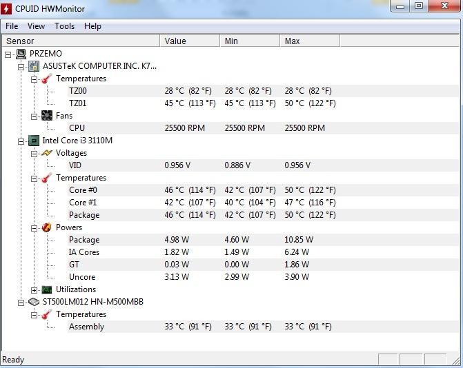 temperatury-komputera Sprawdzamy temperaturę podzespołów komputerowych.