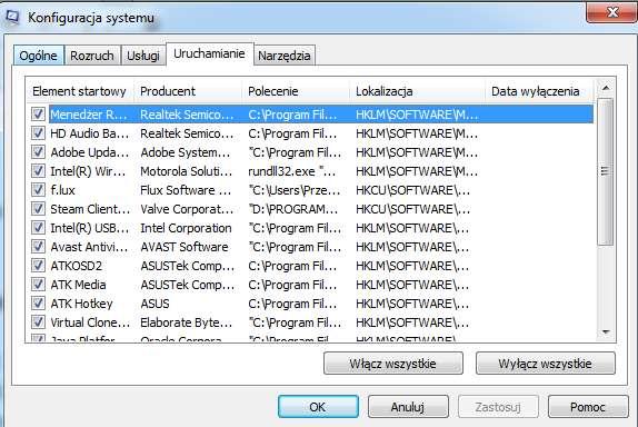 Programy-uruchamiane-z-systemem-operacyjnym Sześć sposobów na przyspieszenie Windows 7. Poprawiamy wydajność Siódemki za darmo.
