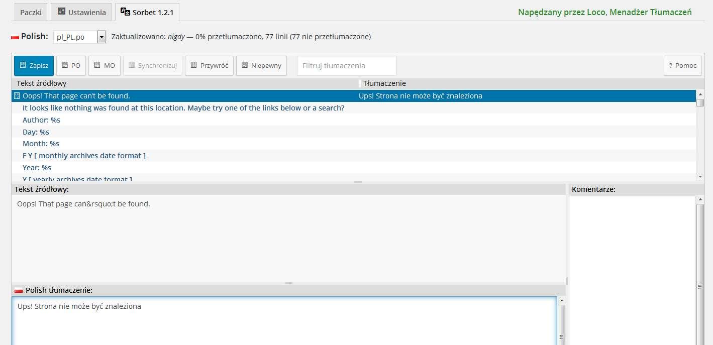 Tlumaczymy-szablon-wordpress-na-Polski Tłumaczenie szablonu Wordpress. Jak przetłumaczyć szablon za pomocą Loco Translate?