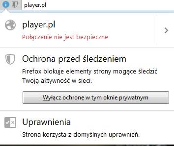 ochrona-przed-sledzeniem Nie odtwarza się wideo - sprawdź jak wyłączyć blokowanie reklam Firefox.