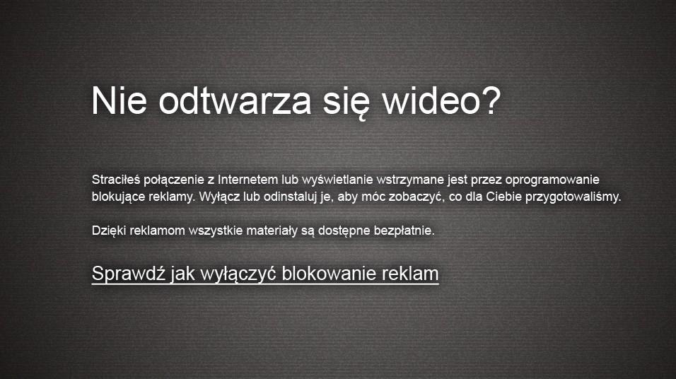 player-nie-odtwarza-sie Nie odtwarza się wideo - sprawdź jak wyłączyć blokowanie reklam Firefox.