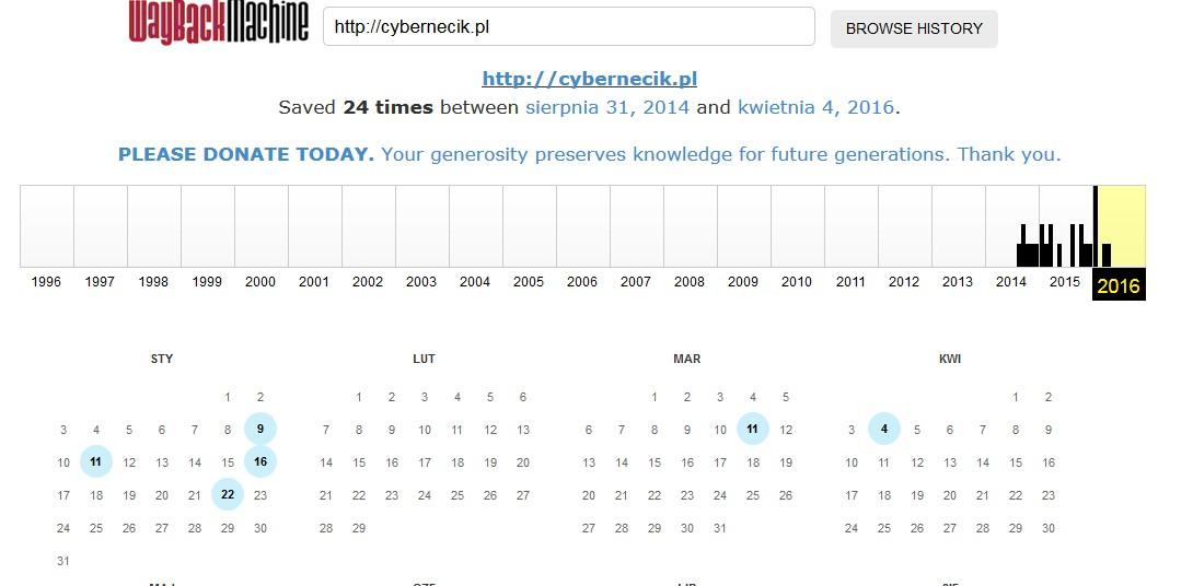 archiwum-internetu Archiwalne wersje stron internetowych. Nie tak łatwo zniknąć z internetu!