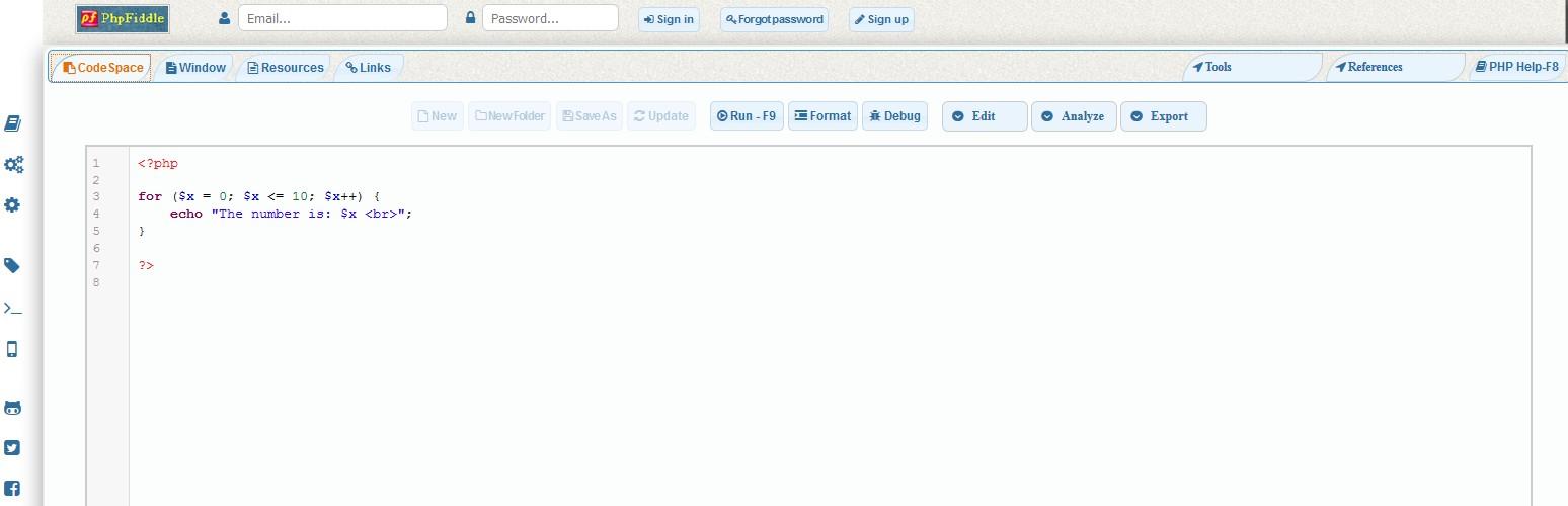 interpreter-php-online Przetestuj kod PHP bez konieczności zakładania serwera. Darmowy interpreter PHP online bez rejestracji.