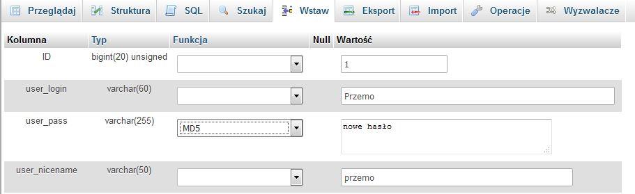 nowe-haslo-wordpress Jak zmienić hasło użytkownika w Wordpress?