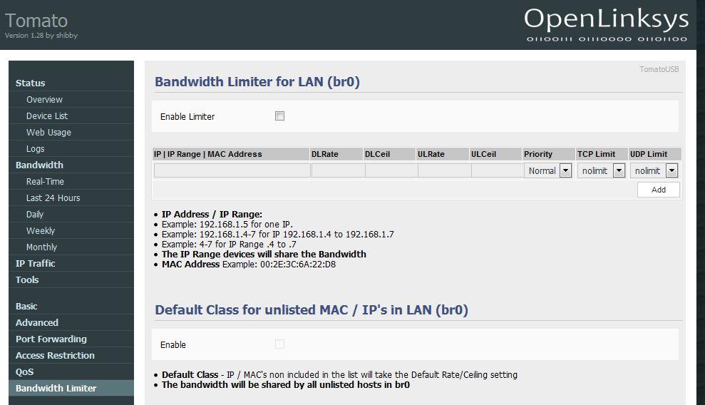 limiter-pasma-w-routerze Podział łącza internetowego, czyli jak zapewnić minimalną prędkość pobierania.