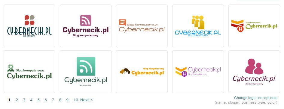 Szablony-logo Aplikacja do projektowania logo w internecie Logaster